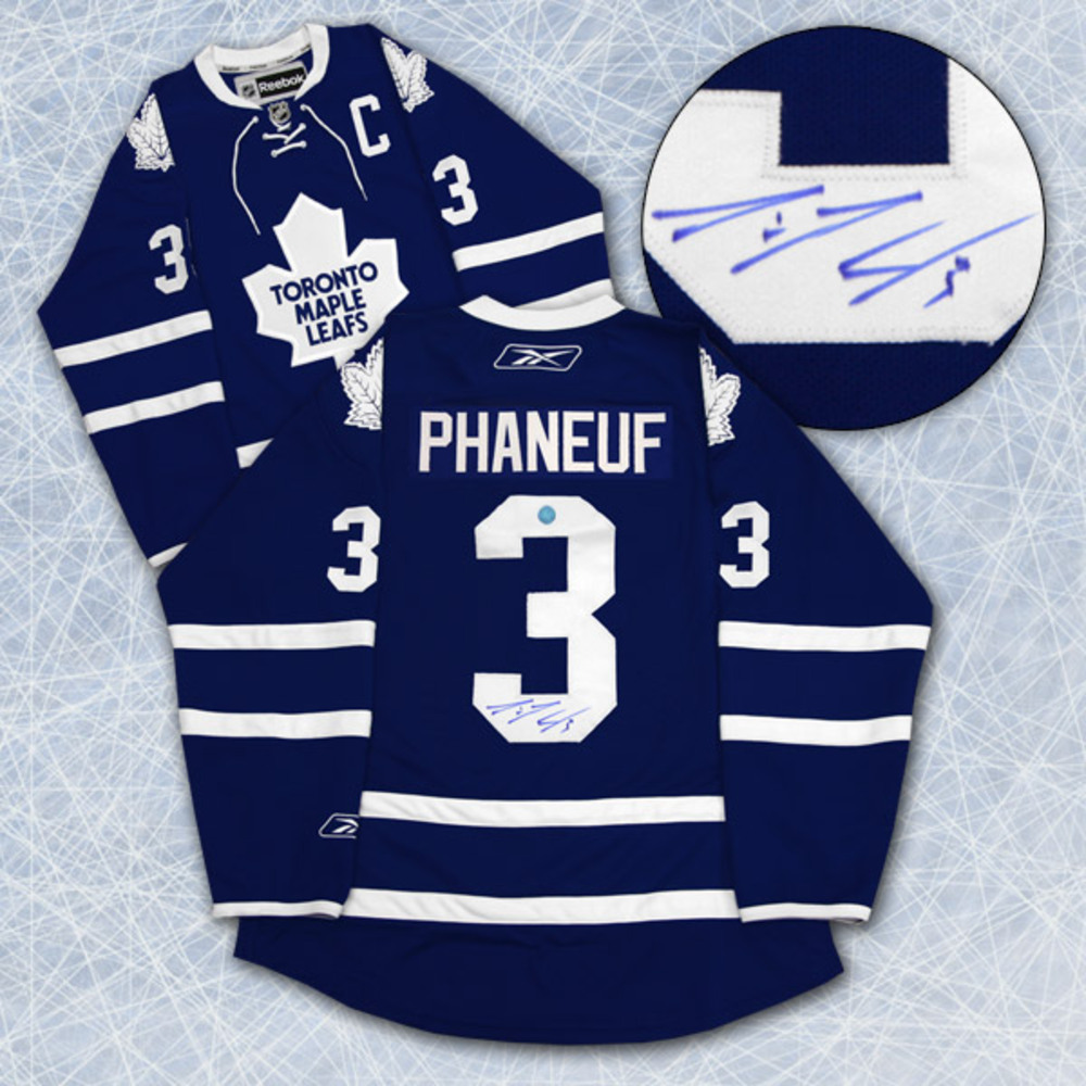 DION PHANEUF Autographed Toronto Maple Leafs Reebok Premier Jersey