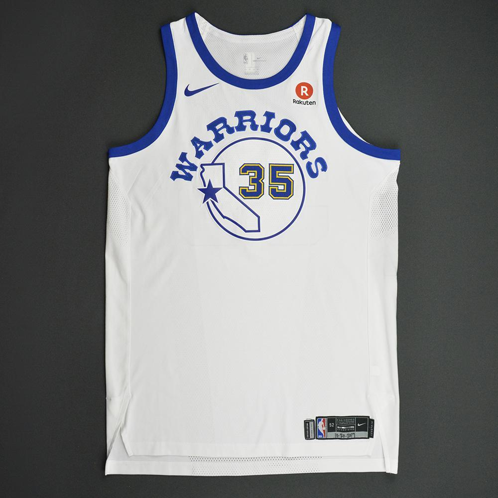 Kevin Durant - Golden State Warriors - Classic Edition 1984-87 Home Style Game-Worn Jersey - Career High 7 Blocked Shots - 2017-18 Season