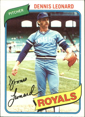 Photo of 1980 Topps #565 Dennis Leonard