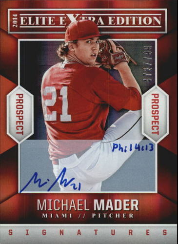 Photo of 2014 Elite Extra Edition Prospects Signatures #63 Michael Mader/799