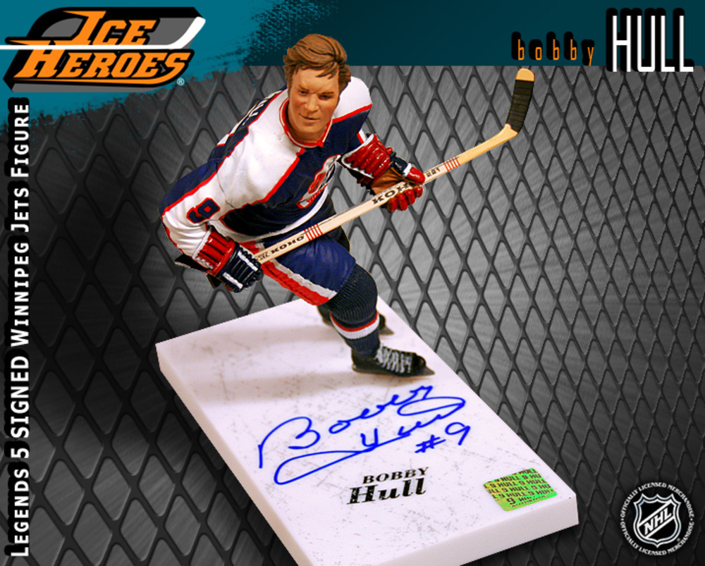 BOBBY HULL Signed McFarlane Legends 5 Action Figure - Winnipeg Jets