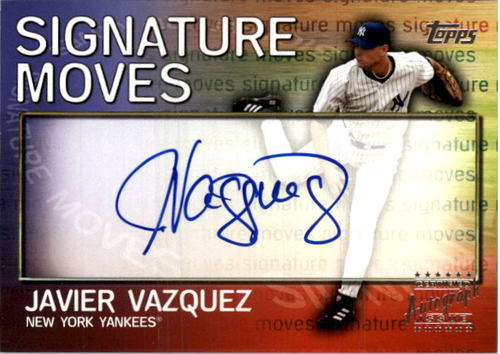 Photo of 2004 Topps Traded Signature Moves #JV Javier Vazquez A