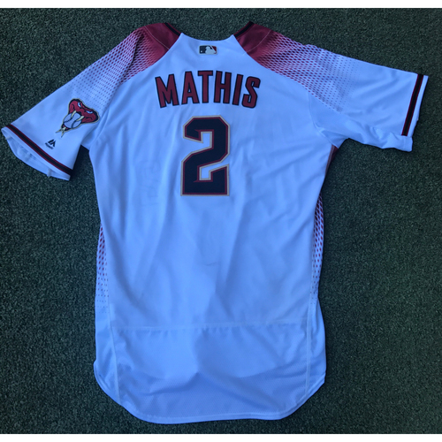 Photo of Jeff Mathis Game-Used 2017 Commemorative Opening Day Jersey