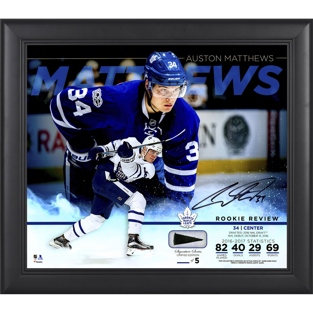 Auston Matthews Toronto Maple Leafs Framed Autographed 15