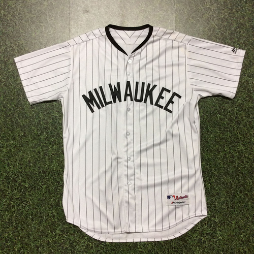 Photo of Anthony Swarzak 2017 Milwaukee Bears Game-Used Jersey