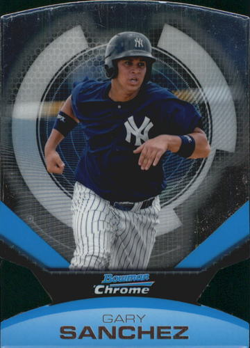 Photo of 2011 Bowman Chrome Futures #14 Gary Sanchez -- Yankees post-season