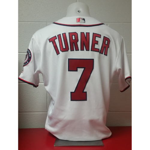 Photo of 2017 Opening Day Game-Used Jersey: Trea Turner