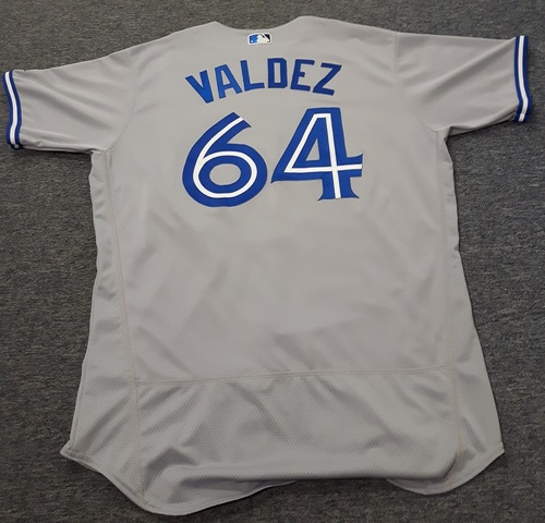 Photo of Authenticated Team Issued Jersey - #64 Cesar Valdez (2017 Season). Size 48.
