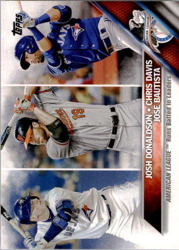 Photo of 2016 Topps #162 Jose Bautista/Josh Donaldson/Chris Davis LL
