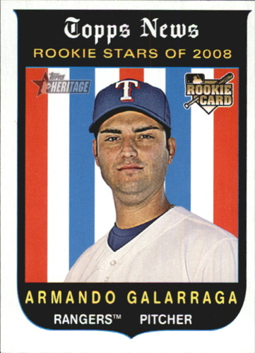 Photo of 2008 Topps Heritage #124 Armando Galarraga RC