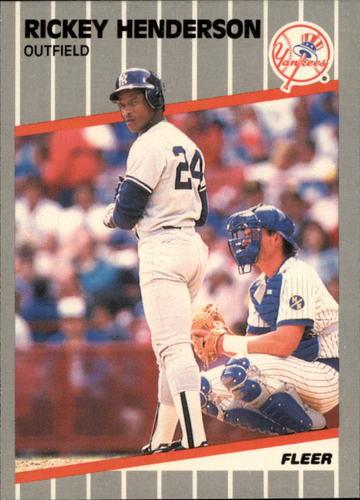 Photo of 1989 Fleer Glossy #254 Rickey Henderson
