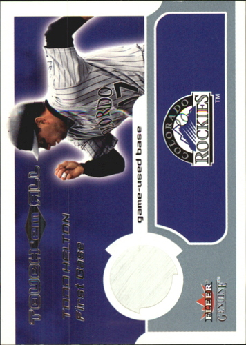 Photo of 2002 Fleer Genuine Touch Em All Game Base #15 Todd Helton