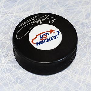 Jack Eichel USA Hockey Autographed Hockey Puck *Buffalo Sabres*
