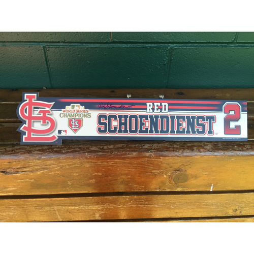 Photo of Cardinals Authentics: #2 Red Schoendienst autographed 2012 locker nameplate