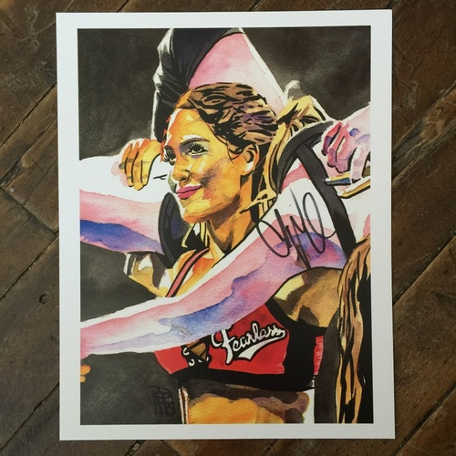 Photo of Nikki Bella SIGNED 11 x 14 Rob Schamberger Print