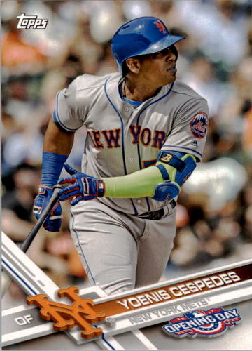 Photo of 2017 Topps Opening Day #72 Yoenis Cespedes
