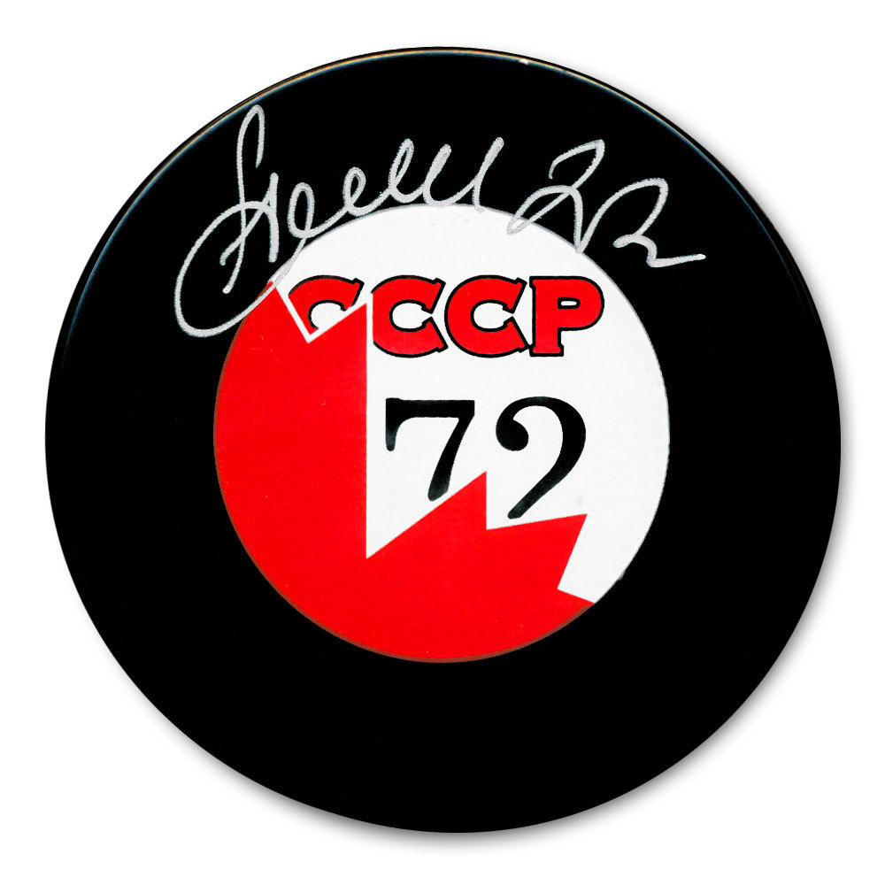 Vyacheslav Anisin CCCP Canada 1972 Summit Series Dueling Autographed Puck