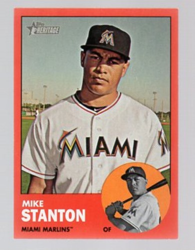 Photo of 2012 Topps Heritage #483C Mike Stanton exclusive Target short  print