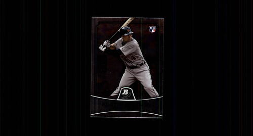 Photo of 2010 Bowman Platinum #79 Austin Jackson Rookie Card -- Indians post-season