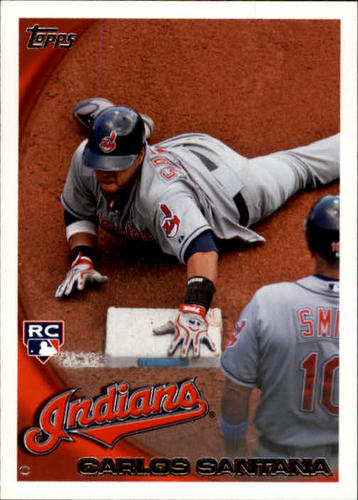 Photo of 2010 Topps Update #US330A Carlos Santana RC