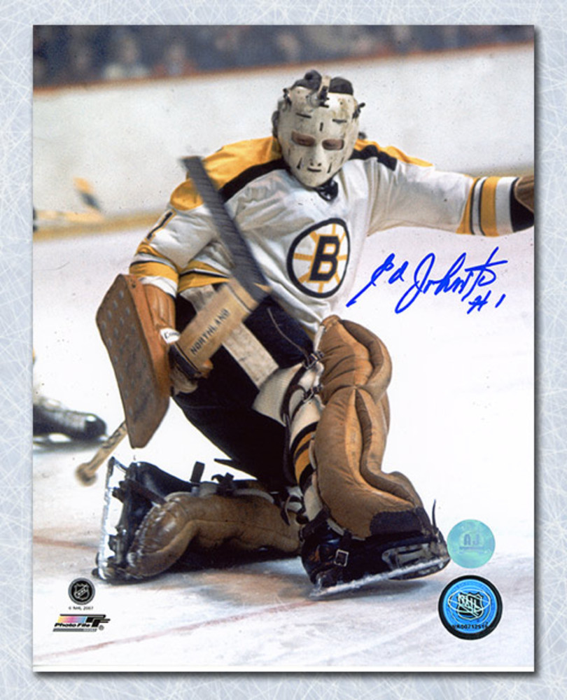 Ed Johnston Boston Bruins Autographed Hockey Goalie 8x10 Photo