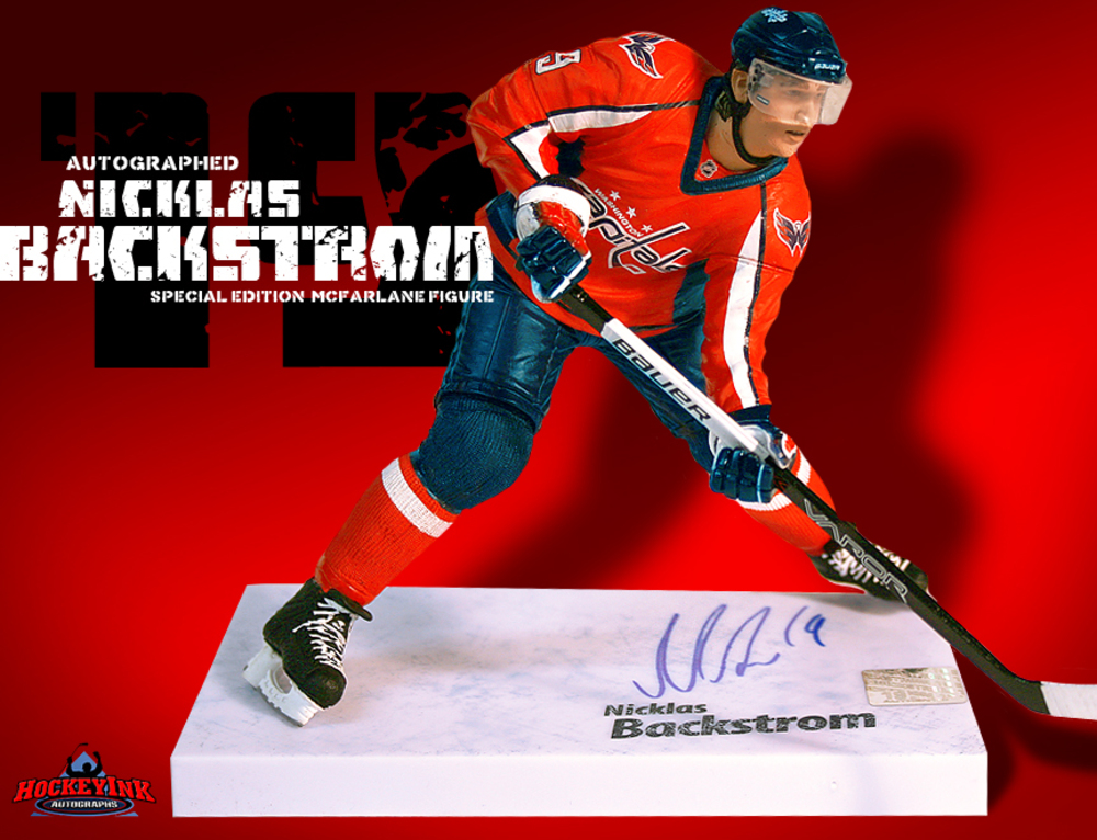 NICKLAS BACKSTROM Signed McFarlane 2010 Series 25 Figure - Washington Capitals