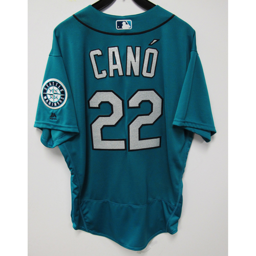 Photo of Robinson Cano Green Game-Used Jersey - 9/2/2016