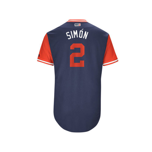 "Photo of Andrelton ""Simon"" Simmons Los Angeles Angels Game-Used Players Weekend Jersey"