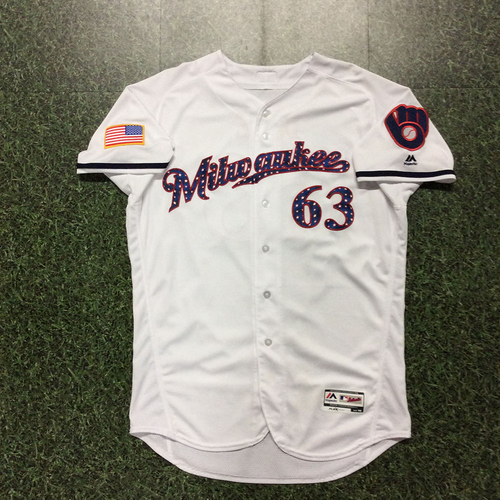Photo of Robinzon Diaz 2017 Stars and Stripes Game-Used Jersey