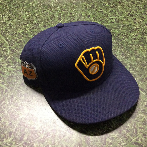 Photo of Ryan Braun 2017 Game-Used Spring Training Cap - 1-2, Double (4/1/17)