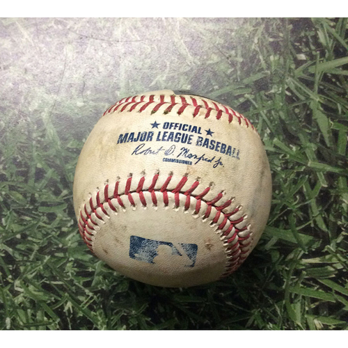 Game-Used Baseball 05/23/17 TOR@MIL - Jimmy Nelson to Russell Martin: Single