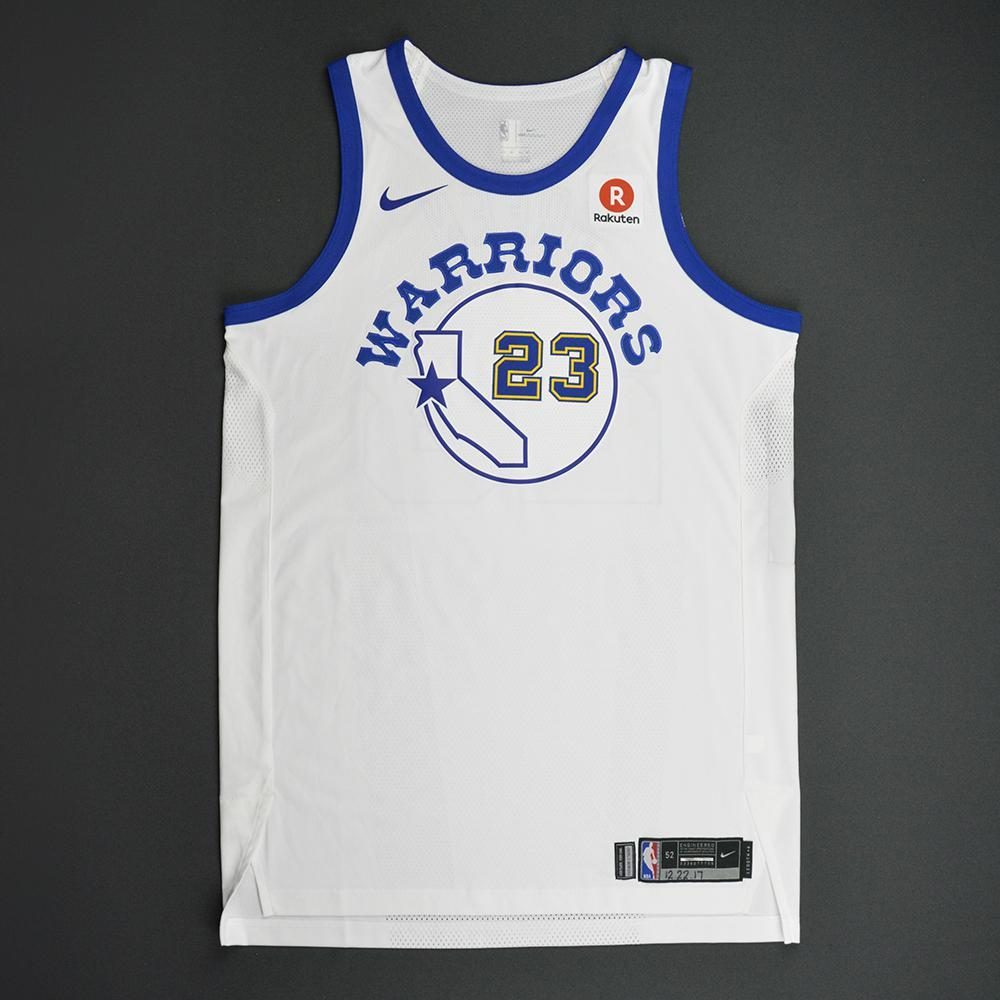 Draymond Green - Golden State Warriors - Classic Edition 1984-87 Home Style Game-Worn Jersey - Double-Double - 2017-18 Season