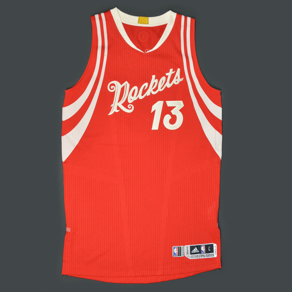 James Harden - Houston Rockets - Game-Worn Jersey - NBA Christmas ...