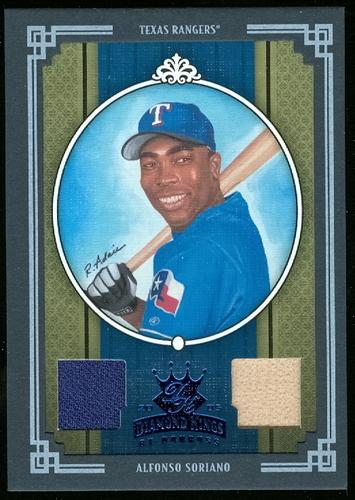 Photo of 2005 Diamond Kings Materials Framed Blue #403 Alfonso Soriano Bat-Jsy/100