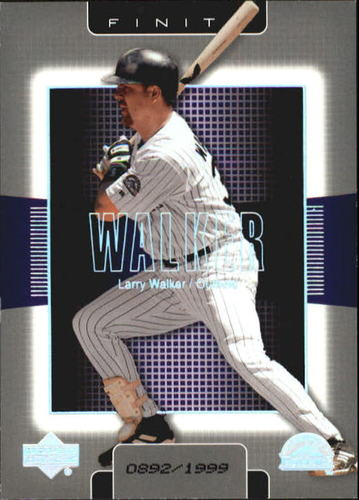 Photo of 2003 Upper Deck Finite #36 Larry Walker