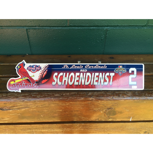 Cardinals Authentics: #2 Red Schoendienst autographed 2010 locker nameplate