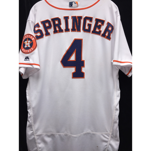 Photo of Game-Used 2016 George Springer Home Jersey