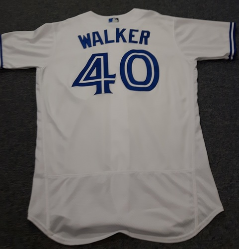 Photo of Authenticated Game Used Jersey - #40 Pete Walker. April 11, 2017 (Home Opener). Size 46.
