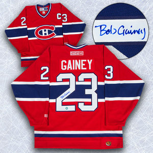 Bob Gainey Montreal Canadiens Autographed Retro CCM Hockey Jersey