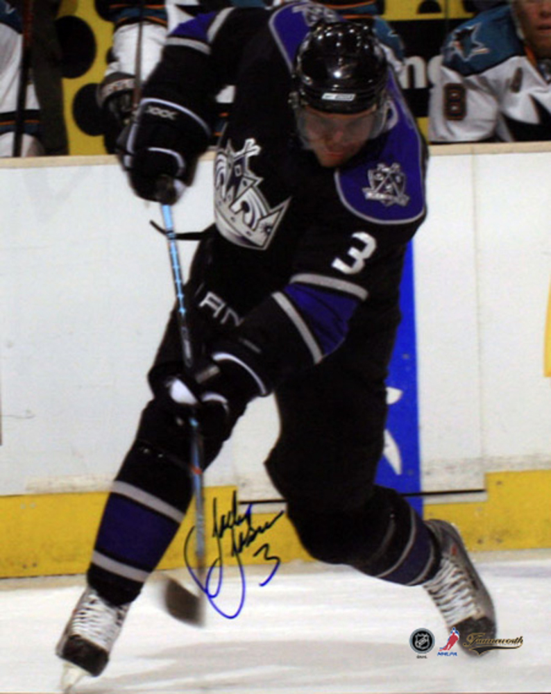 Johnson,J Signed 8x10 Black slapshot Los Angeles
