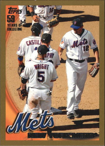 Photo of 2010 Topps Gold Border #436 New York Mets