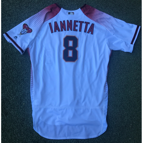 Photo of Chris Iannetta Game-Used 2017 Commemorative Opening Day Jersey