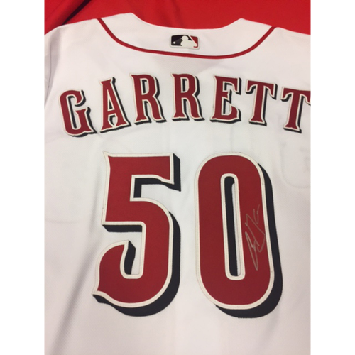 Photo of Autographed Jersey -- Amir Garrett -- 2016 Team-Issued Jersey Signed on Back of Jersey by Amir Garrett