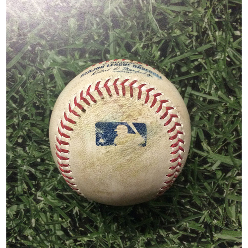 Game-Used Baseball 05/27/17 ARI@MIL - Zack Greinke to Travis Shaw: Single
