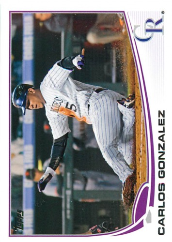Photo of 2013 Topps #5 Carlos Gonzalez
