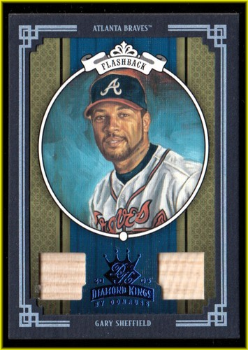 Photo of 2005 Diamond Kings Materials Framed Blue #416 Gary Sheffield Braves Bat-Bat/100