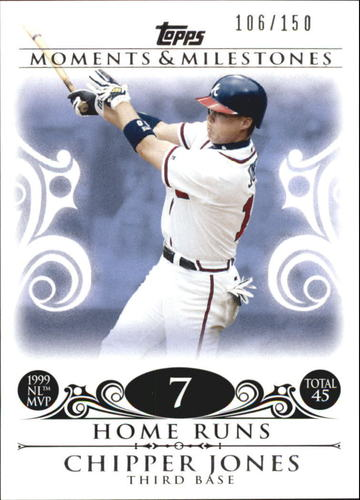 Photo of 2008 Topps Moments and Milestones #110-7 Chipper Jones