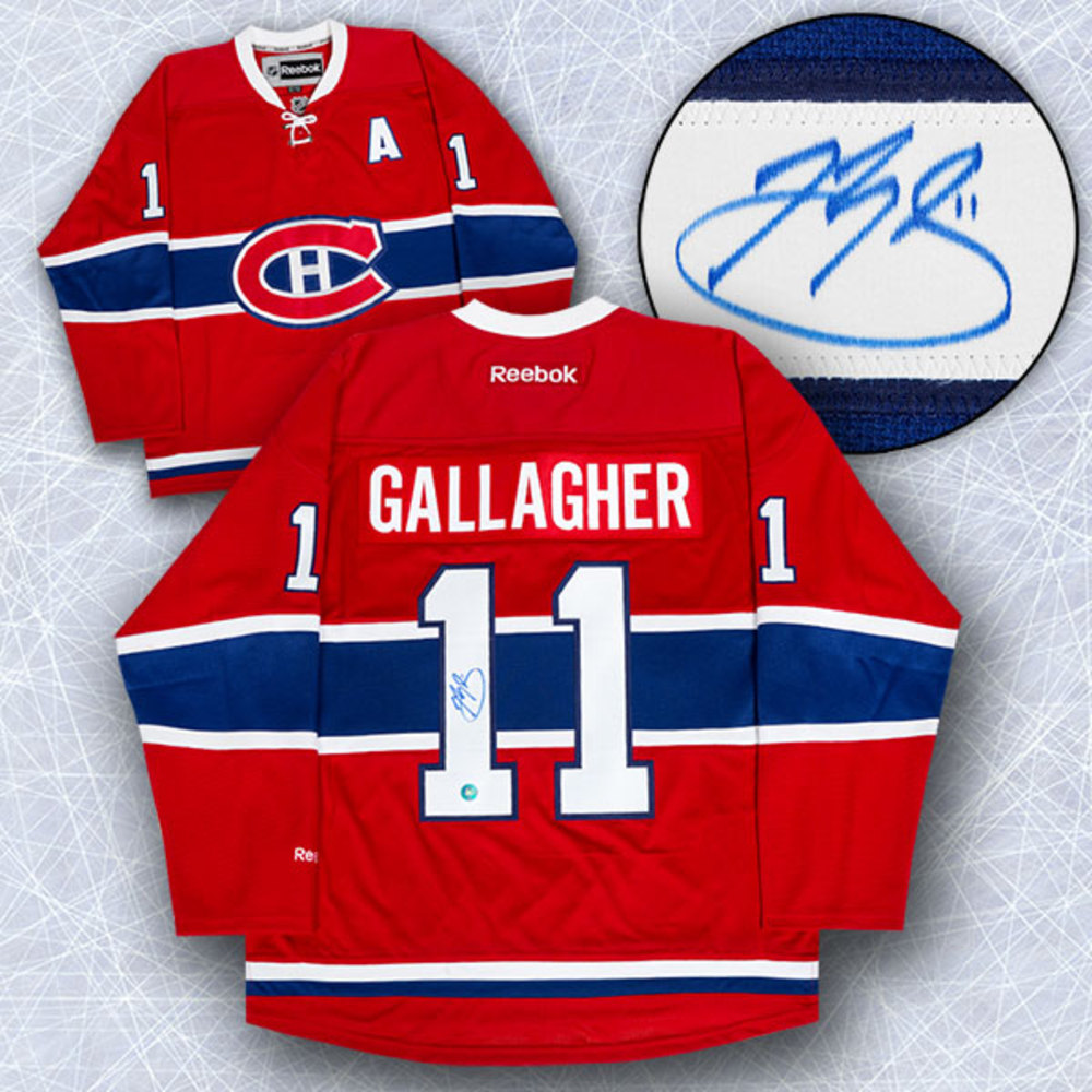 Brendan Gallagher Montreal Canadiens Autographed Reebok Premier Hockey Jersey