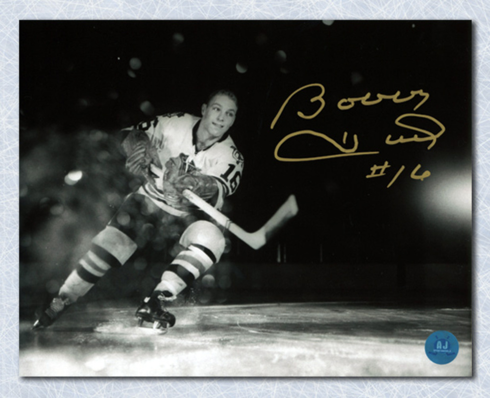 Bobby Hull Chicago Blackhawks Autographed Rookie Net Cam Metallic 8x10 Photo