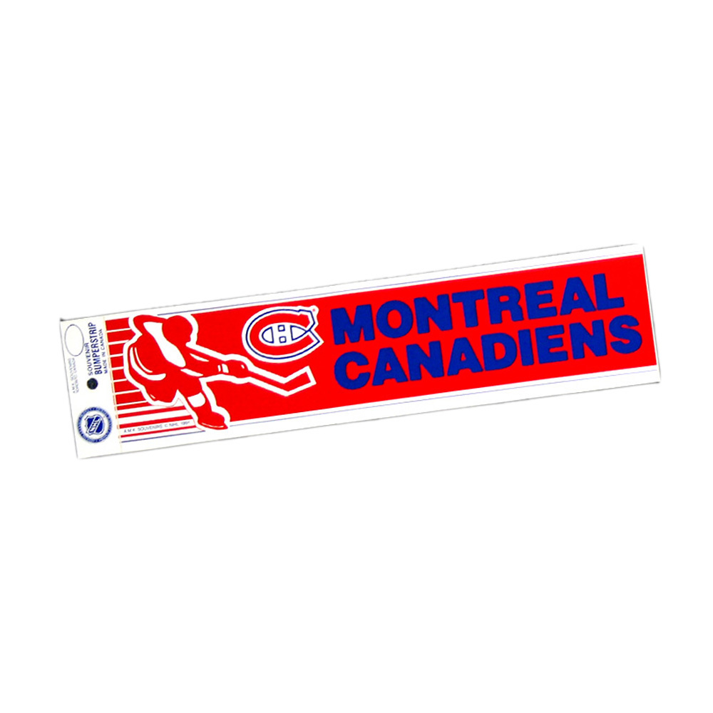 Vintage NHL MONTREAL CANADIENS Bumper Sticker - Unused - NOS - NM - STYLE B